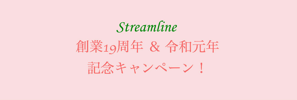ストリームライン創業19周年&令和元年 記念キャンペーン